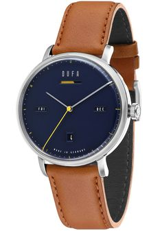 DuFa is a brand that blends the best traditions of iconic German design with uncompromising modern manufacturing standards. Bauhaus Watch, Christopher Ward, Stowa, Blue Band, Watch Brands, Cool Watches, Accessories, Design, Silver