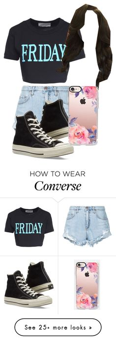 """Favorite Day of The Week"" by johnnapaige21 on Polyvore featuring Alberta Ferretti, Nobody Denim, Converse and Casetify"