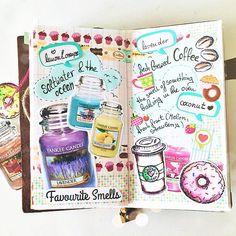 themintgreenpolkadot: Listers Gotta List Challenge - Favourite Smells  #mtn #midoritravelersnotebook