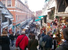 Venice, Italy tourist market is a great place to find little gifts for your family and friends, its a great place to buy an inexpensive Venitian souvenir, a Carnivale Venitian mask! We bought ourselves masks here!