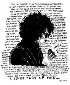 Bob Dylan Simple Twist of Fate digital art print by bmethe on Etsy, $5.00