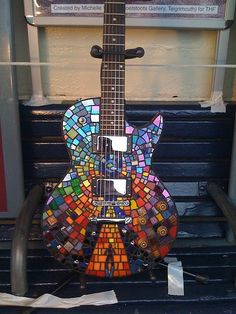 "Guitar modeled after the album cover of ""The Resistance"" by Muse Guitar Painting, Guitar Art, Music Guitar, Cool Guitar, Ukulele, Playing Guitar, Guitar Logo, Guitar Tattoo, Mundo Musical"