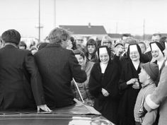 Robert F Kennedy meeting nuns on his campaign journey