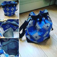 Caroline Kzk sur Instagram: Entre 2 voyages, petite cousette du dimanche matin, patron de chez #sacotin, tissu de chez #tototissus. #waxaddict #pretepourlete…