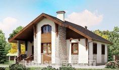 080-002-L Projekt domu parterowego, kompaktowy domek wiejski z gazobetonu, Jastrzębie-Zdrój