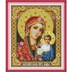 [ 22% OFF ] The Holy Mother Son Sew!counted Cross Stitch Kits For Dmc Embroidery Floss Needlework Sets Cross Stitch Patterns Paintings