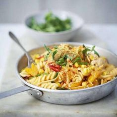 Superenkel fajitakryddad pasta