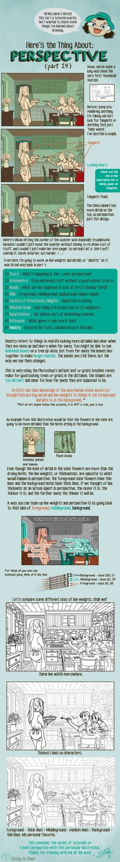 14 Here's the Thing About 1 Point Perspective by betsyillustration.deviantart.com on @DeviantArt