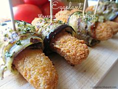 Crème Rose : Eggplant Wrapped Mozzarella Sticks