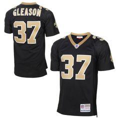 Steve Gleason New Orleans Saints Mitchell & Ness Retired Player Vintage Replica Jersey – Black
