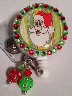 Nurse badge holder for the holidays!