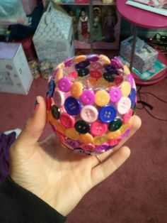My button bowl :) glue and mod podge!