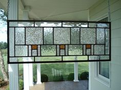 Stained Glass Window Panel Transom Arts and by TheGlassShire, $74.00
