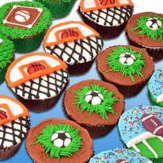 Global Sugar Art : sports cupcake