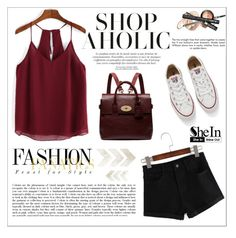 """""""SheIn"""" by aurora-australis ❤ liked on Polyvore featuring WithChic, Converse, Mulberry and Sheinside"""