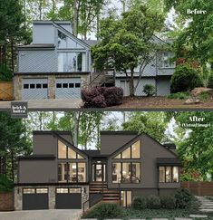 brick&batten is a unique online exterior design service for your home. Providing a realistic virtual design, enabling you to see your homes potential. Our service includes a shopping list to make your dream home a reality. House Paint Exterior, Dream House Exterior, Exterior House Colors, Exterior Homes, Home Exterior Makeover, Exterior Remodel, Modern Contemporary Homes, Contemporary Architecture, Modern Exterior