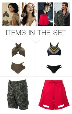 """At the pool"" by miaagustus ❤ liked on Polyvore featuring art"