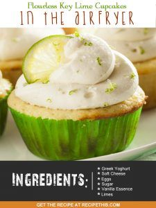 Airfryer Recipes   Flourless Key Lime Cupcakes In The Airfryer from RecipeThis.com