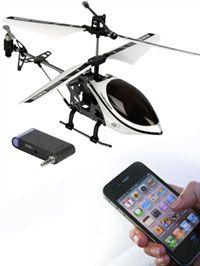 Elicottero telecomandato per iPhone®. Trasforma il tuo iPhone® in un telecomando per controllare a distanza… un elicottero!