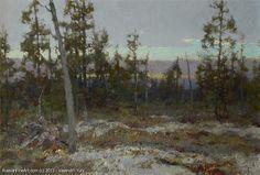 Vasendin, Yury -- Dusk Over The Swamp - oil, canvas