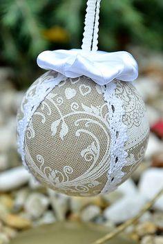 RURO / Vianočná guľa - patchwork / Christmas ball