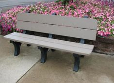 Berlin Gardens 6 Foot Poly Park Bench Perfect for backyard or garden. Create a lovely place to sit to enjoy the outdoors. Made with ultra durable poly. #outdoorbenches