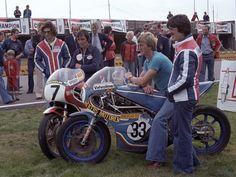 Johnny Cecotto, Boet van Dulmen Jack Middelburg and Steve Baker Assen F750 1977.