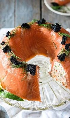 Date and nut cake - HQ Recipes Fish Dishes, Seafood Dishes, Fish And Seafood, Savory Pastry, Good Food, Yummy Food, Party Finger Foods, Savory Snacks, Salmon Recipes