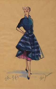 Costume designs by Elois Jenssen for Lucille Ball in I Love Lucy (1951-57).