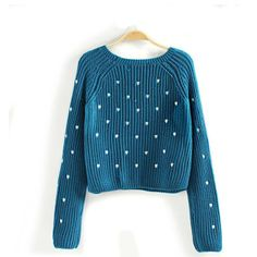 2013 New Autumn Women's Brand Fashion Pullover Cute Heart Embroidery Pattern Lady Full Sleeve O-Neck Short Pullovers In Stock $15.41