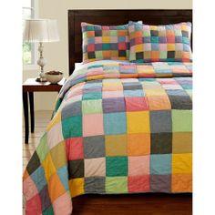 Landon Color Patchwork 3-piece Quilt Set | Overstock.com