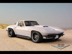 1966 Chevrolet Corvette Coupe by Zolland Design - White - 1920x1440 - Wallpaper