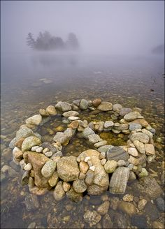 """Peace Island""  Massachusetts.  Quabbin Reservoir.  *I just gotta say it, - ""Groovy!""  This makes me want to know more behind the 'photograph' details.  All rights (Copyright) - Patrick Zephyr Nature Photography.  More unique Nature photography on the site.  Click on in....."