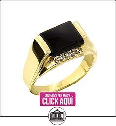 Pequeños Tesoros - Anillos Hombres Alianza De Boda 10 Kt Oro 471/1000 Negro Ónix Con Diamante  ✿ Joyas para hombres especiales - lujo ✿ ▬► Ver oferta: https://comprar.io/goto/B0127JI4E0
