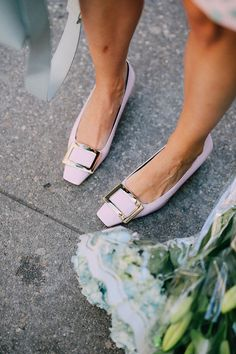 Roger Vivier flats in lilac #rogerviviershoes