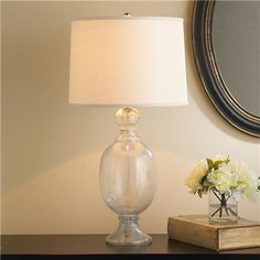 Seeded Glass Table Lamp several colors
