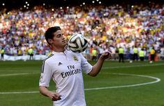 James Rodriguez real madrid apresentação (Foto: Agência AFP)