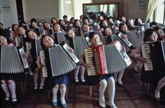 North Korea. Pyongyang. 1982. Children at Pyongyang Student and Children's Palace. , 1982  by Hiroji Kubota  Photograph