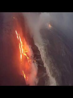 Lava Flowing into the ocean. Big Island, Hawaii ❤️