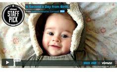Pai filma 1 segundo por dia durante o primeiro ano do filho
