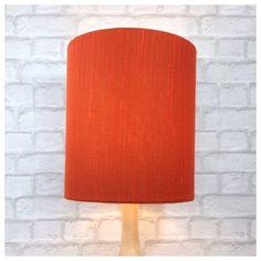 Handmade Vintage Fabric Lampshade 30cm x 35cm Burnt Orange