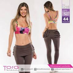 REF:1218 #Leggings, top estampando #ToraTraining #EntrenaConEstilo #Fitness #FitnessFashion #modadeportiva #gymwear
