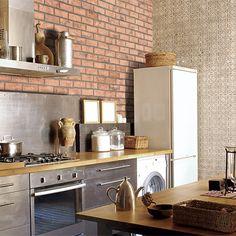 Un carrelage qui imite la brique à la perfection ! #carrelage #design #deco