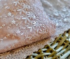 Pink embroidered lace trim I Pink lace trim I Lace trim I Embroidered lace I Lingerie lace trim I Pink embroidery lace I Sewing lace by SixthCraft on Etsy