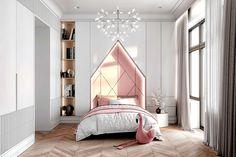 Tikhaya House on Behance Room Design Bedroom, Kids Room Design, Girls Bedroom, Bedroom Decor, Bedroom Interiors, Neoclassical Interior Design, Toddler Rooms, Luxury Interior, Girl Room