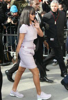 Rihanna at Chanel A/W 2014