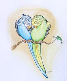 Parakeet Heart by SophieDragon.deviantart.com on @DeviantArt