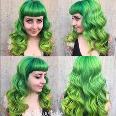 pravana vivid green and pravana neons...love it!
