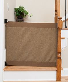 Loving this Mocha Stair Barrier Banister-to-Wall Gate on #zulily! #zulilyfinds