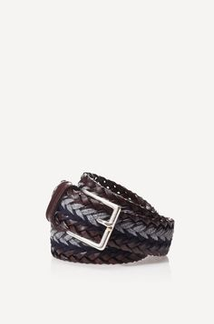 Leather and wool belt by Massimo Dutti